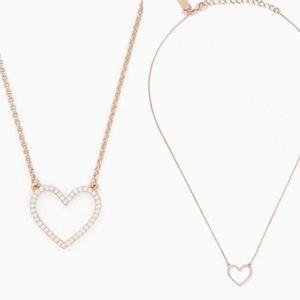 kate spade scalloped open heart necklace